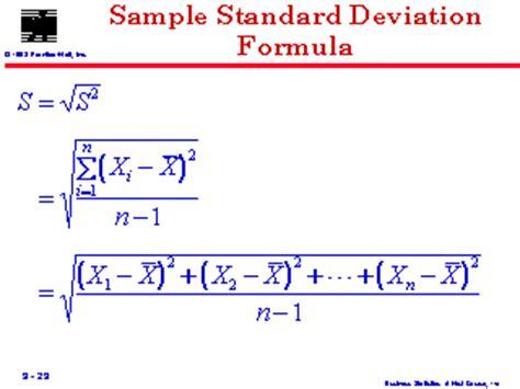 standard deviation template sle standard deviation formula