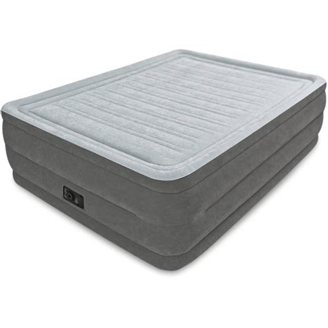 intex 22 quot raised downy airbed mattress with built in electric new color blue