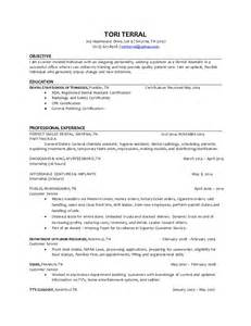 Registered Resume Exles by Dental Assistant Resume Hiring Sales Dental Lewesmr