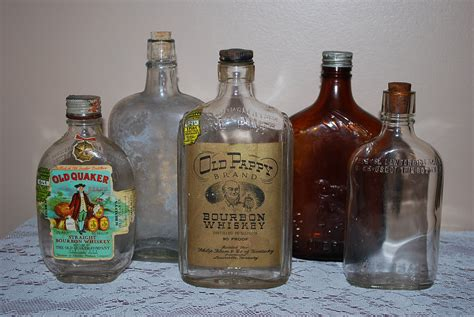 liquor bottles vintage instant collection by