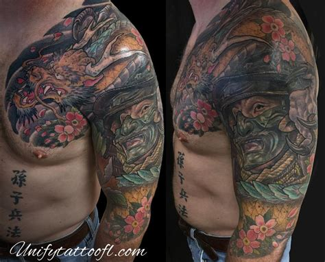 unify tattoo company tattoos custom dragon amp samurai
