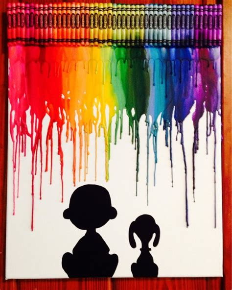 Hair Dryer Rainbow By El Diablos brown and snoopy inspired melted crayon