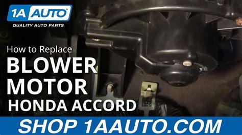 install replace heater ac blower motor honda accord