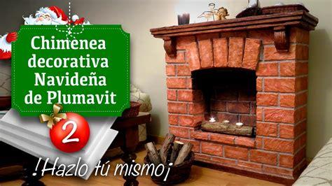 como hacer una chimenea de unicel para decorar el hogar decoraci 243 n de navidad chimenea falsa de plumavit