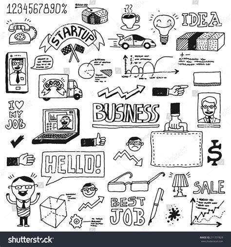 doodle startup business startup doodle sketch concept set 1
