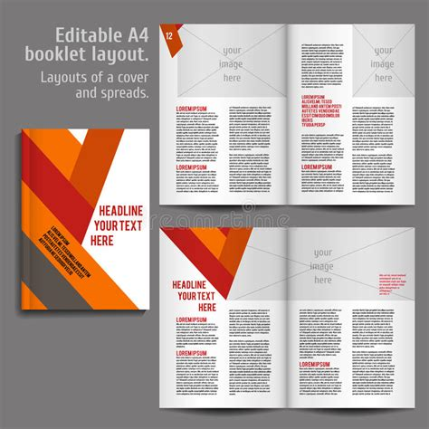 layout design book free download a4 book layout design template stock vector illustration