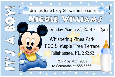 free mickey mouse baby shower invitation templates 1000x1000 jpg