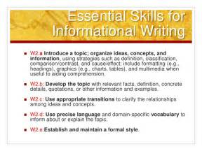Writing An Informational Essay by Common Informative Explanatory Writing