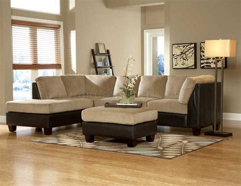 br royce sectional sofa  light brown microfiber