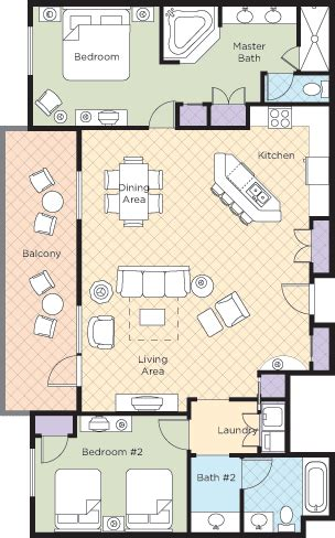 bonnet creek floor plans bonnet creek 2 bedroom presidential