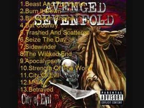 Avenged Sevenfold City Of Evil A7x Kaos 2 Sisi Ukuran S avenged sevenfold city of evil pt2 3