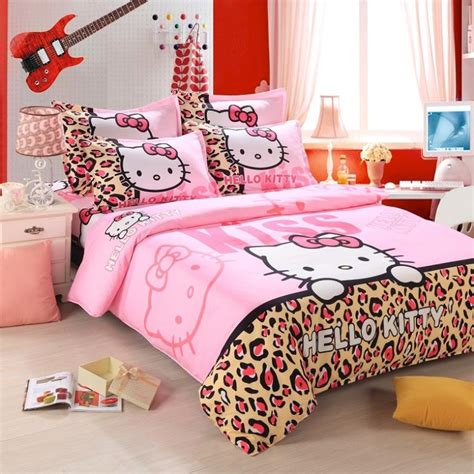 childrens twin comforter sets 3pcs pink hello kitty cartoon baby child kids comforter