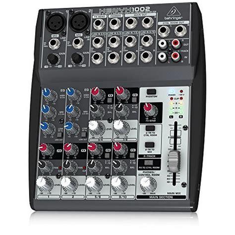 Mixer Behringer 1002 Fx behringer xenyx 1002 10 channel audio mixer desertcart