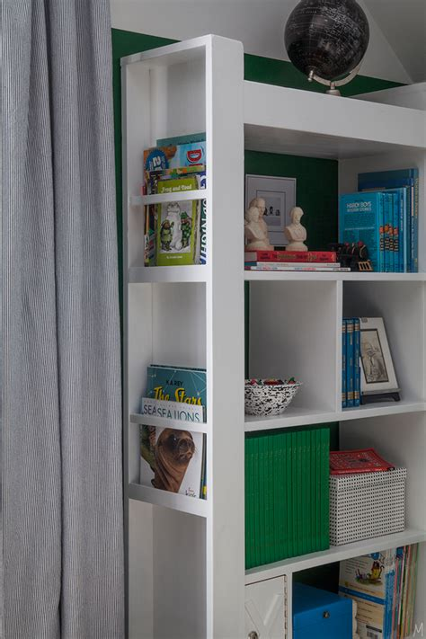 a boy s bookcase and how to style it practically the