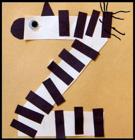 zebra pattern for preschoolers z is for zebra letter of the week preschool craft