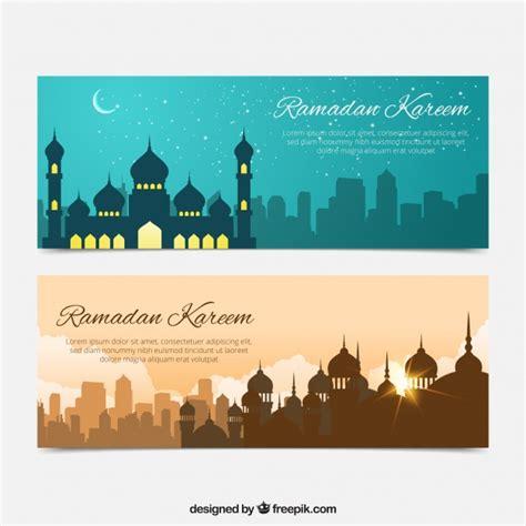 design banner ramadan ramadan banners of beautiful landscapes vector free download