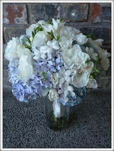 hydrangea bouquet hydrangea bouquets jar centerpieces a real wedding jen s blossoms