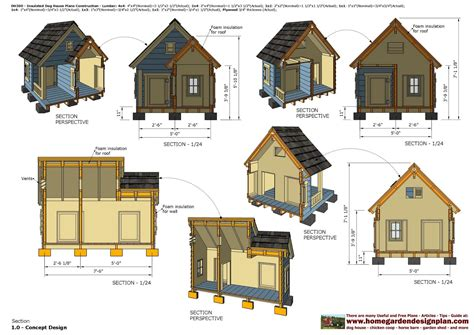 insulated dog house blueprints home garden plans dh300 insulated dog house plans