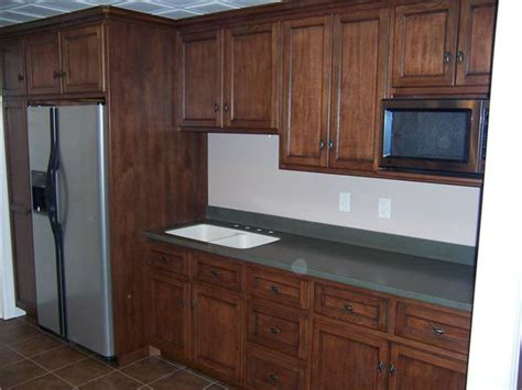 cabinet appliances with brown stained wooden hickory best wood specis types for custom cabinets ds woods