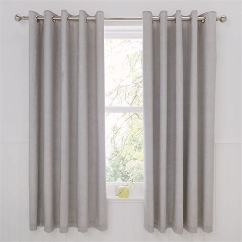 rathmoore thermal lined eyelet curtains 66 x 72 silver