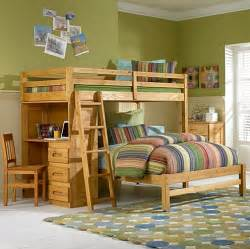Twin over full bunk bed with desk