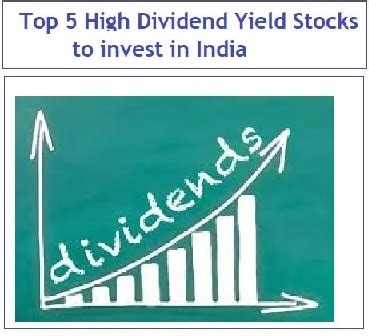 best high yield dividend stocks top 5 high dividend yield stocks to invest in india