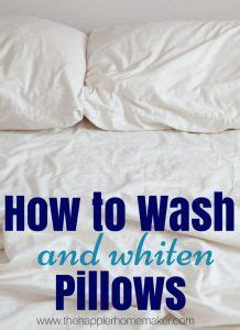 how to clean bed pillows 28 images how to wash and 25 best ideas about whiten pillows on pinterest wash