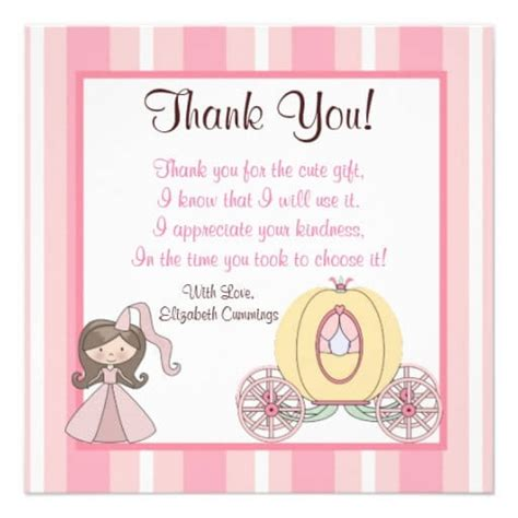thank you letter newborn gift baby shower gift thank you wblqual