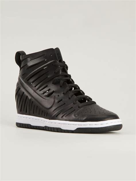 nike sky high sneakers nike dunk sky hi joli sneakers in black lyst