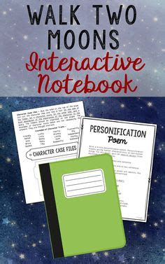 walk two moons book report shiloh interactive notebook novel unit study activities