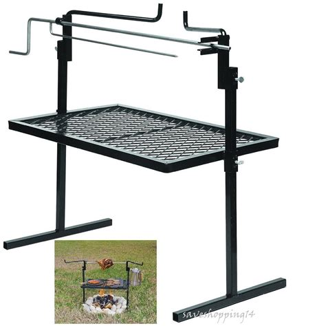 backyard rotisserie cing rotisserie grill bbq spit rack cooking fire pit outdoor cfire hiking ebay