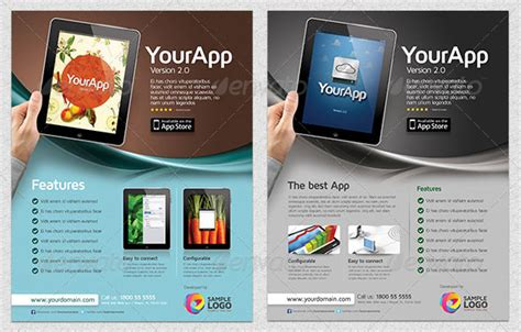 30 Effective Web Mobile Apps Flyer Psd Templates Web Graphic Design On Bashooka Website Advertisement Template