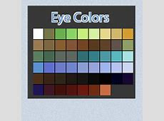 Eye Color Swatches By Linkdb On DeviantArt Anime Palette