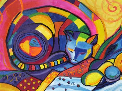 imagenes no realistas faciles cuadros grandes pinturas frida kahlo gatos naif en oferta