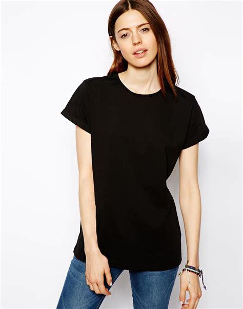 Print Back T Shirt lyst asos tshirt with dont walk back print in black