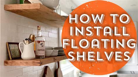install floating shelvesdiy floating shelves youtube