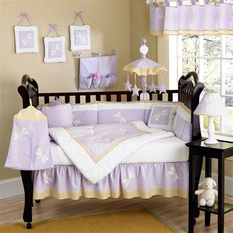 Purple And Yellow Crib Bedding Lavender And Yellow Baby Shower Theme Dragonfly Dreams Purple Baby Crib Bedding Set By Jojo