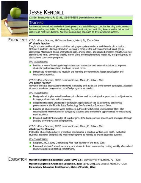 resume format 2015 for teachers find your best resume sles 2018 resume