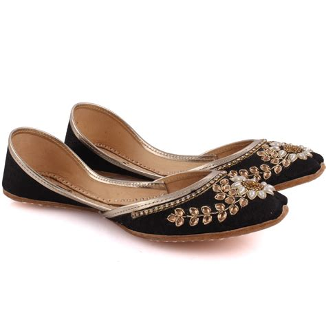 indian slippers unze s charoite embellished indian khussa slippers