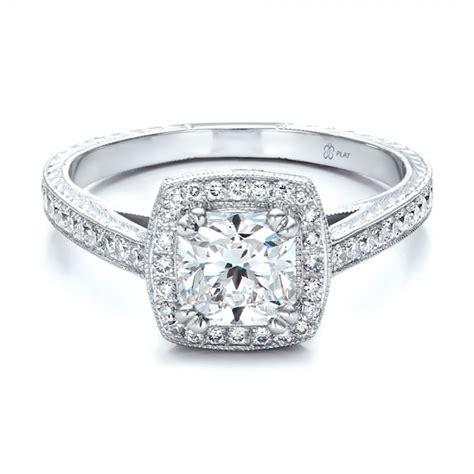 custom halo engagement ring 100924 bellevue