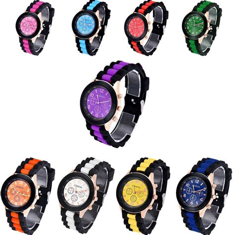 colorful watches colorful mens womens watches silicone jelly gel quartz