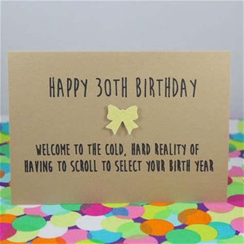 Holiday Doormat Funny 30th Birthday Card Happy 30th Birthday Welcome To