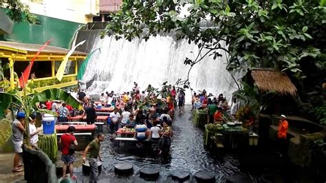 villa escudero waterfall restaurant villa escudero overlook youtube