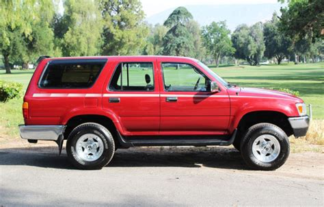 Owner Of Toyota One Owner 1992 Toyota 4runner Sr5 4x4 Suv For Sale