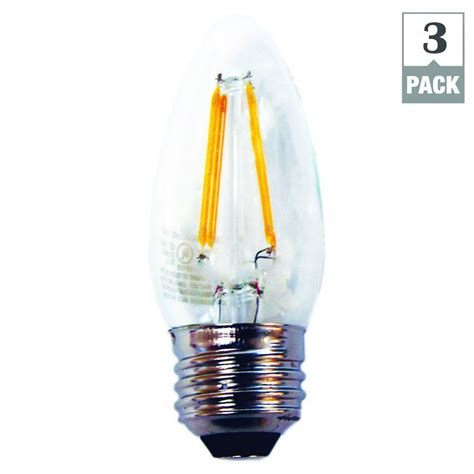 ecosmart led light bulbs ecosmart 40w equivalent soft white b11 dimmable filament