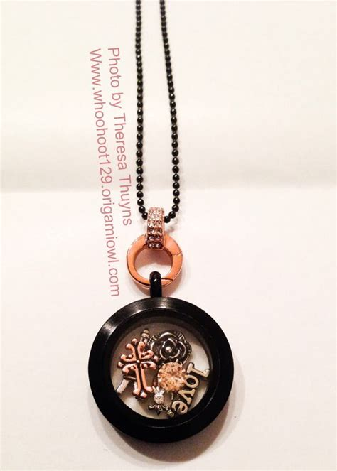 Gold Origami Owl - origami owl 2014 medium black locket new gold