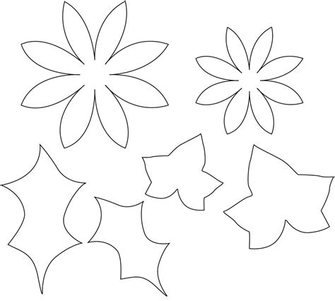 printable paper flower templates flower template sewyeah