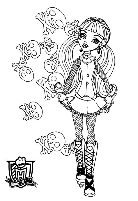 sw monster coloring page coloring pages monster high coloring pages free and printable