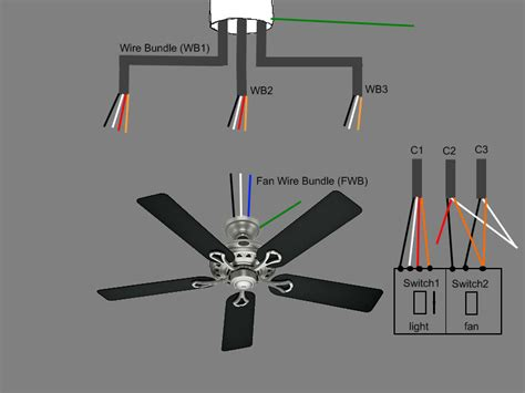 installing a ceiling fan with light 13 two switch