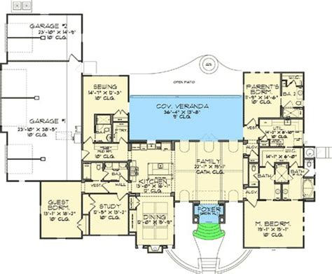 sewing room floor plans plan 46022hc craftsman home with master sitting room master bath a house and house